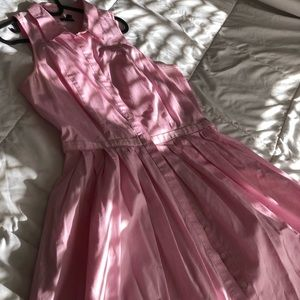 Pink button down Ann Taylor Dress with pockets!